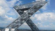 Das Saarpolygon wurde ins Leben gerufen vom Förderverein BergbauErbeSaar e. V., entworfen von den Berliner Architekten Pfeiffer & Sachse und auf einem 150 Meter hohen Plateau installiert. (Foto: Förderverein BergbauErbeSaar e. V., Ensdorf)